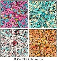 幾何學, 矢量, 背景, 插圖, 彙整