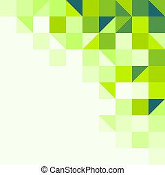 幾何學, 綠色的背景