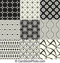 幾何學, 黑色, /, 背景, 白色