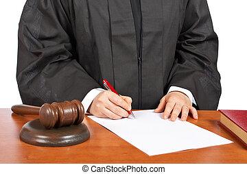 庭院, 簽署, 女性, 空白, 判斷, 預訂