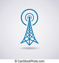 廣播, 塔, 矢量, 收音机, 圖象