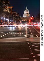 建築物, 傍晚, 州議會大廈, 我們