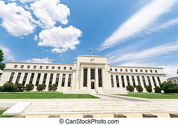 建築物, 儲備, 華盛頓, 美國, 銀行, dc, 聯邦