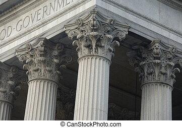 建築物, 哥林多的列, 政府
