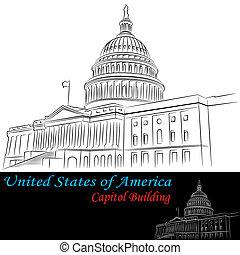 建築物, 國家, 團結, 州議會大廈, 美國