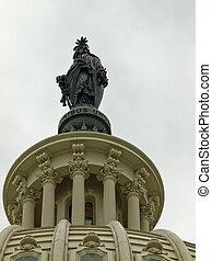 建築物, 團結, 州議會大廈, 自由, 華盛頓特區, 國家, 雕像, utop