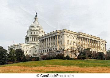 建築物, 團結, 州議會大廈, -, dc, 國家, 華盛頓