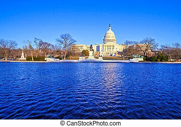 建築物, 天, 華盛頓 國會大廈
