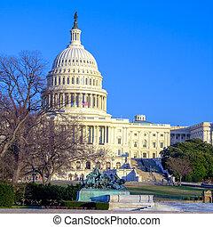建築物, 天, 華盛頓 國會大廈, dc