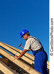建築物, 屋頂, 木匠, 結构
