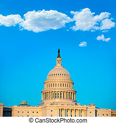 建築物, 州議會大廈, 國會, 華盛頓特區, 我們, 圓屋頂