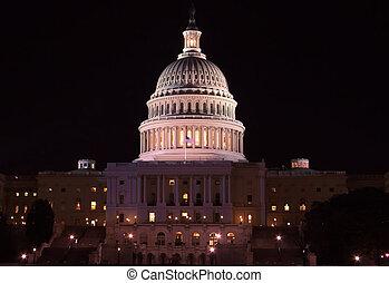 建築物, 州議會大廈, 夜晚