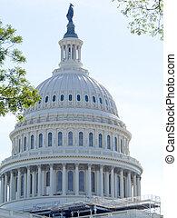 建築物, 州議會大廈, 華盛頓特區, 我們, 圓屋頂