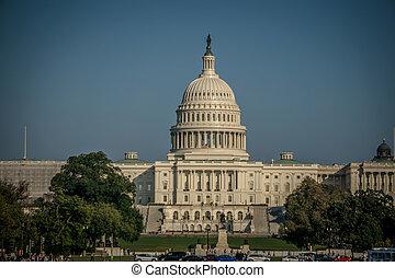 建築物, 春天, 華盛頓 國會大廈, dc