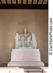 建築物, 林肯, 華盛頓, 紀念館, dc, 亞伯拉罕