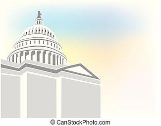 建築物, 標識語, 矢量, 州議會大廈