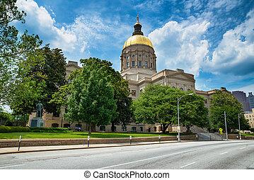 建築物, 狀態, 佐治亞, 亞特蘭大, 州議會大廈