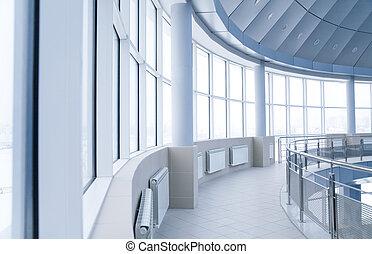 建築物, 環繞, 辦公室, windows, 現代, 內部, 專欄