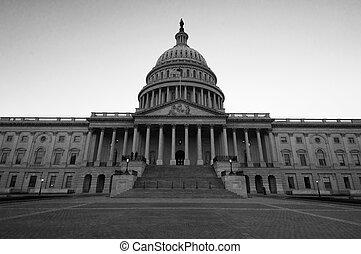 建築物, 白色, 黑色, 州議會大廈, 我們
