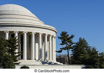 建築物, 紀念館, jefferson, 華盛頓特區