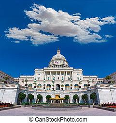 建築物, 美國, 州議會大廈, 國會, 華盛頓特區