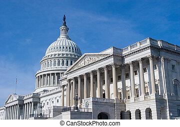 建築物, 華盛頓 國會大廈, 我們, dc