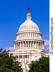 建築物, 華盛頓 國會大廈, dc, 圓屋頂