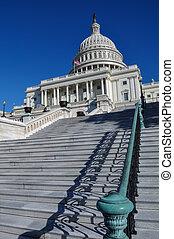 建築物, 華盛頓, 小山, 州議會大廈, dc