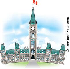 建築物, 議會, canadian