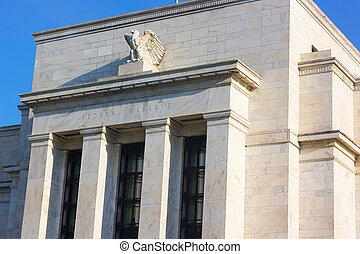 建築物, 鷹, dc, 聯邦, us., 華盛頓, 雕像, 正面, morning., 儲備