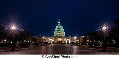 建築物, dc, 團結, 州議會大廈, spring-, 華盛頓, 我們, 國家