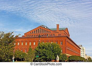建築物, dc, usa., 博物館, 華盛頓, 國家