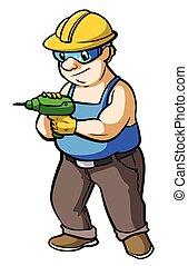建設工人, 操練