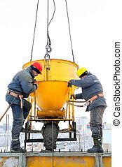 建設, 混凝土, 工人, 工作地點