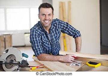 建造工作, 微笑, 工人