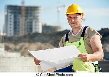 建造者, 建設, 草稿, 站點, 工程師