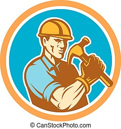 建造者, 木匠, retro, 藏品, 環繞, 錘子