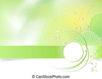 彈跳花, 綠色的背景