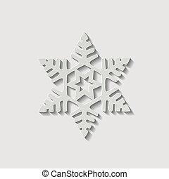 形狀, 矢量, 雪花, 圖象