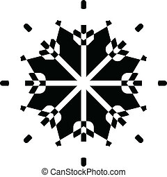 形狀, 矢量, 雪花