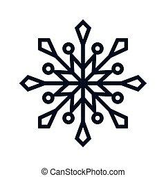 形狀, 雪花, 圖象