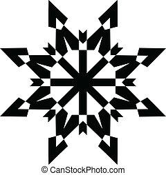 形狀, 黑色, 雪花