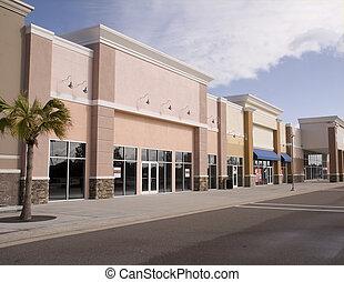 彩色蜡筆, 購物中心, 店面