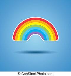 彩虹, 矢量, 圖象
