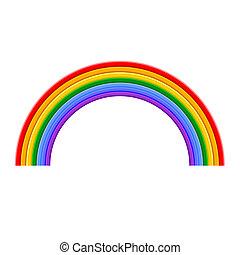 彩虹, 矢量, 鮮艷, 插圖