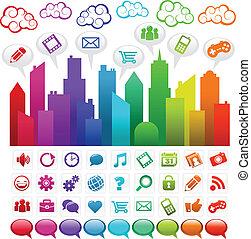彩虹, 社會, 城市, 媒介