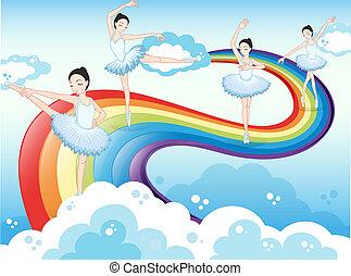 彩虹, 芭蕾舞舞蹈演員, 天空