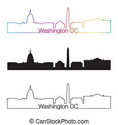 彩虹, 風格, 線性, 華盛頓特區, 地平線