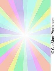 彩虹, 飛行物, 光線