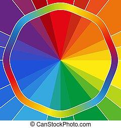 彩虹, 鮮艷, 背景